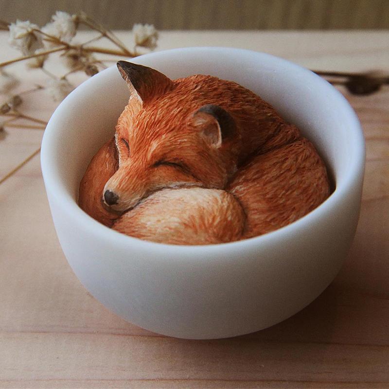 茶狐 設計師 Ah Wei Workshop 原型/模型/公仔/藝術 ,可愛的療癒商品