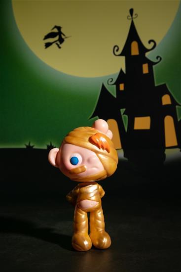 瑪米 木乃伊 寶貝萬聖節 設計師玩具 模型 原型 公仔 土豪金 黃金木乃伊